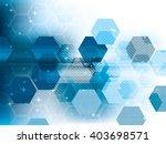 technology background blue... | Shutterstock .eps vector #403698571