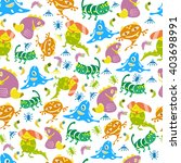 seamless pattern with monsters. ... | Shutterstock .eps vector #403698991