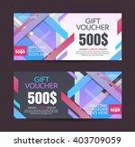 gift voucher template with... | Shutterstock .eps vector #403709059