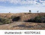 rock scenery with blue sky | Shutterstock . vector #403709161