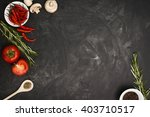 black table with food... | Shutterstock . vector #403710517