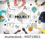 project information start up... | Shutterstock . vector #403713811