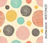 vintage polka dot. retro... | Shutterstock .eps vector #403719625