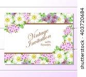 vintage delicate invitation... | Shutterstock .eps vector #403720684
