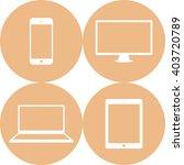 set of computer monitor  laptop ... | Shutterstock .eps vector #403720789