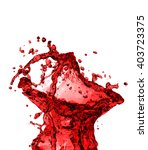 red juice splash closeup... | Shutterstock . vector #403723375