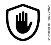 shield with hand block  ... | Shutterstock .eps vector #403729804