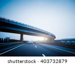car driving on the highway blue ... | Shutterstock . vector #403732879