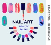 vector set of colorful nail... | Shutterstock .eps vector #403736485