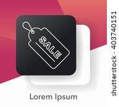 sale discount line icon | Shutterstock .eps vector #403740151