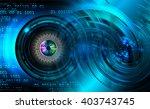 blue abstract hi speed internet ... | Shutterstock . vector #403743745