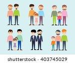 homosexual  happy family  gay... | Shutterstock .eps vector #403745029