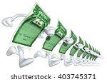 stock certificate 3d... | Shutterstock . vector #403745371