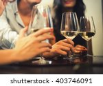 friends drinking together | Shutterstock . vector #403746091
