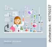 medical laboratory conceptual.... | Shutterstock .eps vector #403750237