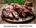 roasted sliced barbecue pork... | Shutterstock . vector #403751194