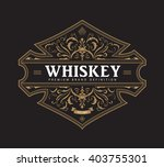 antique badge label typography... | Shutterstock .eps vector #403755301