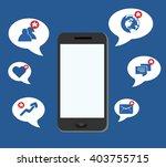 smart phone apps notification  | Shutterstock .eps vector #403755715