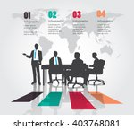 business meeting with modern... | Shutterstock .eps vector #403768081