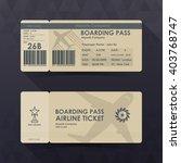boarding pass tickets brown... | Shutterstock .eps vector #403768747