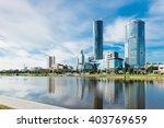 view of quay wharf embankment...   Shutterstock . vector #403769659