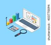 data analytics  chart graphic... | Shutterstock .eps vector #403770094