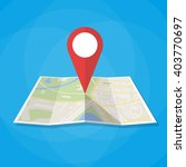 navigation geolocation icon.... | Shutterstock .eps vector #403770697