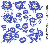 flower illustration object | Shutterstock .eps vector #403780087