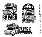 car rv camper caravan bus | Shutterstock .eps vector #403782595