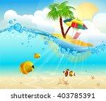 Tropical Sea Natural Backgroun...