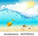 Tropical Underwater View With...