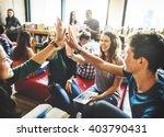 classmate classroom sharing... | Shutterstock . vector #403790431