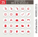 25 red universal icon set.... | Shutterstock .eps vector #403812211