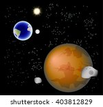 abstract background with mars ...
