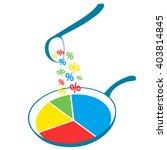infographics  pie chart... | Shutterstock .eps vector #403814845
