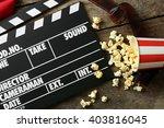 Movie Clapper Board With...