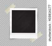 old empty realistic photo frame ... | Shutterstock .eps vector #403816177