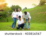 asian three generation family... | Shutterstock . vector #403816567
