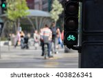 Bicycle Riders Waiting For...
