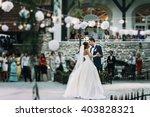 sensual happy newlywed couple... | Shutterstock . vector #403828321