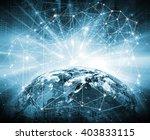 best internet concept of global ... | Shutterstock . vector #403833115