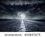 night road against the...   Shutterstock . vector #403837675