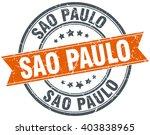 sao paulo red round grunge... | Shutterstock .eps vector #403838965