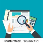 business analyst  financial... | Shutterstock .eps vector #403839514