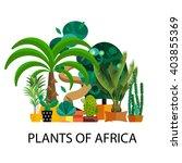 flat nature of africa vector... | Shutterstock .eps vector #403855369