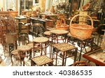 decorative bamboo furniture... | Shutterstock . vector #40386535