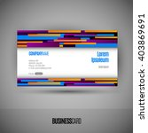 business card with abstract...