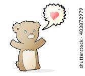 cartoon teddy bear with love... | Shutterstock .eps vector #403872979