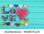 valentine's day concept.... | Shutterstock . vector #403874125