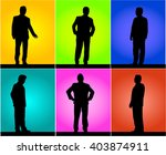 business people. silhouettes... | Shutterstock .eps vector #403874911